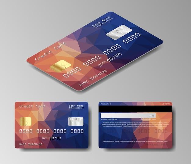 Ensemble de carte de débit. jeu de cartes de crédit
