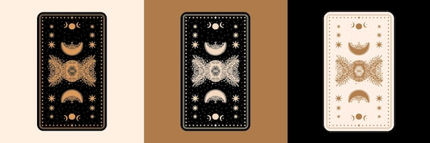 Ensemble de cartes de bureau tarot mystique
