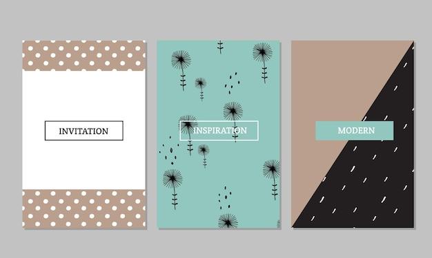 Ensemble de cartes créatives vintage, ruban adhésif, autocollants, étiquettes avec des textures à pois dessinées à la main