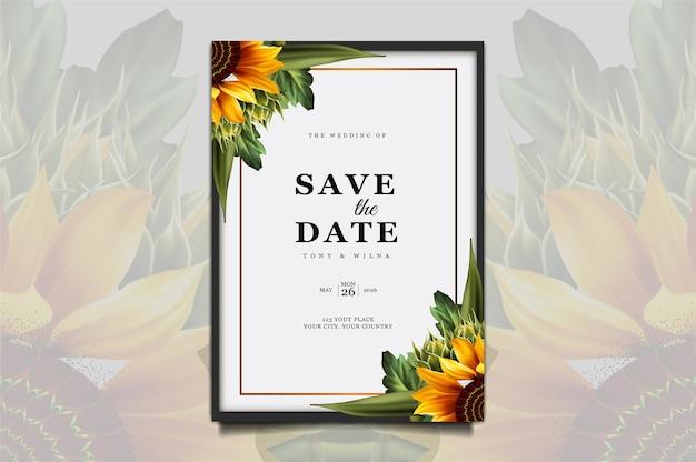 Ensemble de cartes d'invitation de mariage de luxe enregistrer la date
