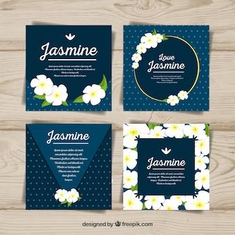 Ensemble de cartes de jasmin