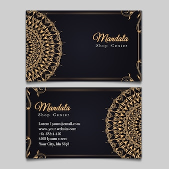 Ensemble de cartes de mariage élément mandala vintage de luxe