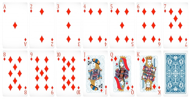 Ensemble de cartes de poker avec design de dos