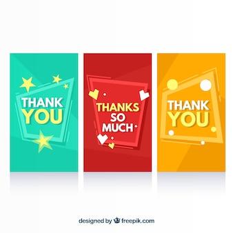 Ensemble de cartes de remerciement