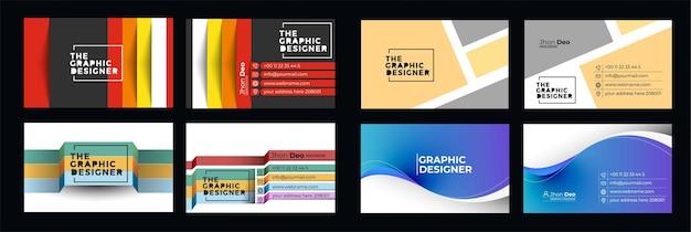 Ensemble de cartes de visite modèle de carte de visite moderne créatif et propre