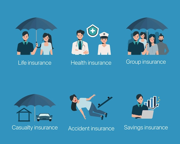Ensemble de cas de protection d'assurance
