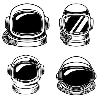 Ensemble de casques astronautes