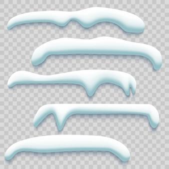 Ensemble de casquettes de neige d'hiver