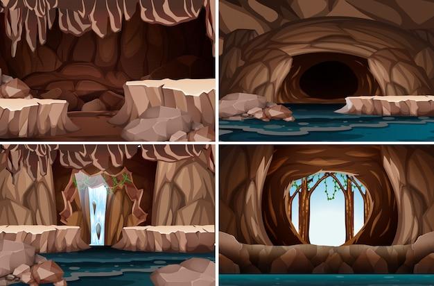 Un ensemble de caverne de la nature
