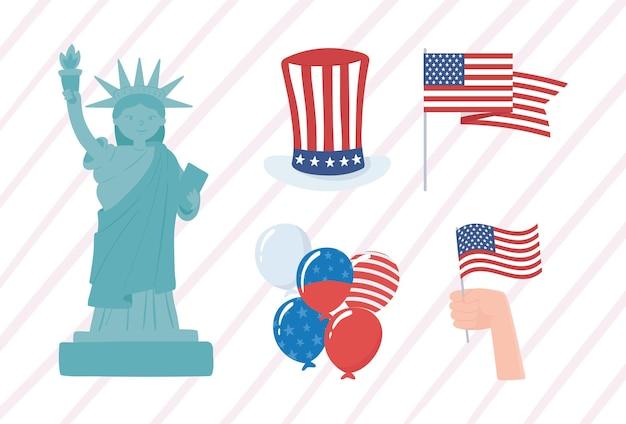 Ensemble de célébration américain