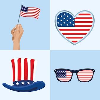 Ensemble de célébration des états-unis