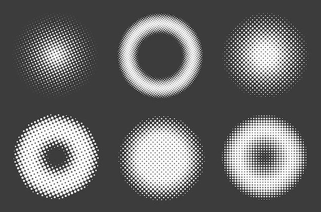 Ensemble de cercle de demi-teintes