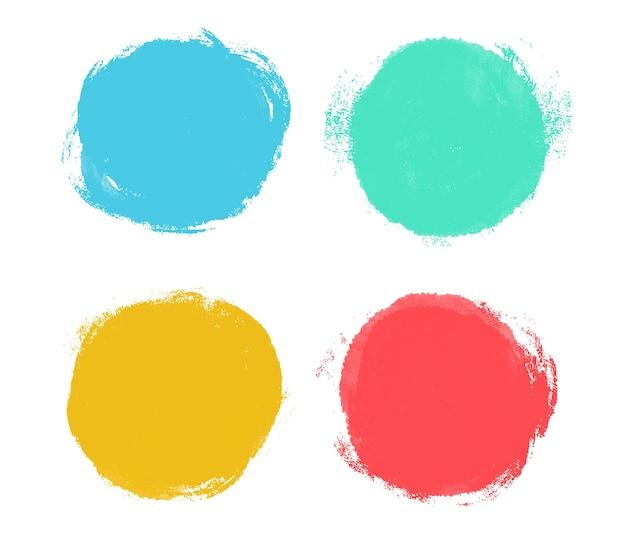 Ensemble de cercles abstraits grunge