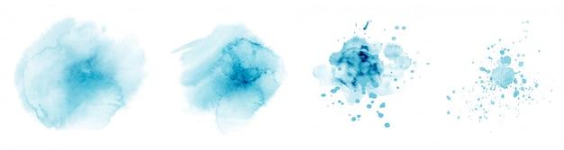 Ensemble de cercles aquarelle peints à la main de différentes formes colorées