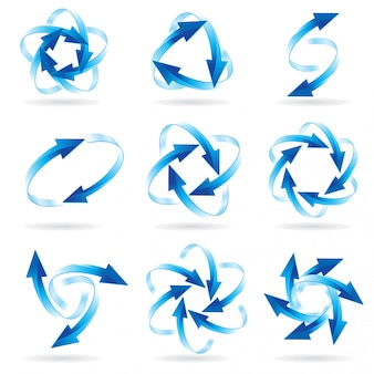 Ensemble de cercles de flèche
