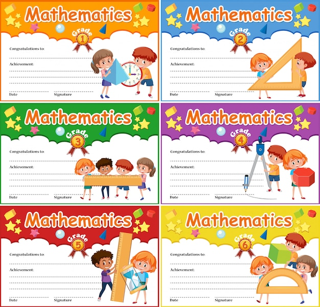 Ensemble de certificat de mathématiques