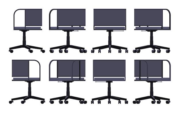 Ensemble des chaises de bureau en rotation