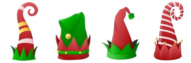 Ensemble de chapeaux d'elfe de noël