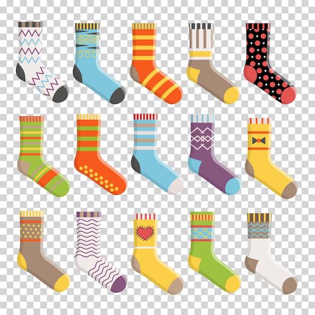 Ensemble de chaussettes colorées design plat