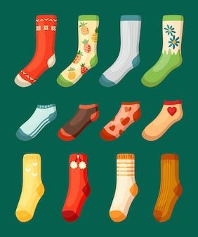 Ensemble de chaussettes colorées