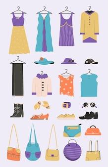 Ensemble de chaussures et accessoires pour femmes