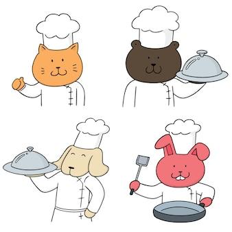 Ensemble de chef animal