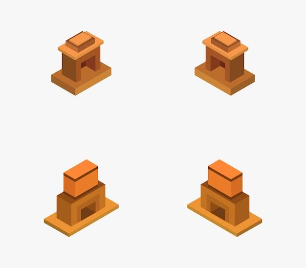 Ensemble de cheminée isométrique