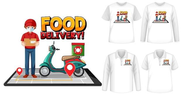 Ensemble de chemise avec thème de livraison