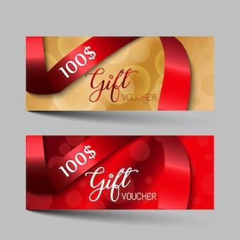 Ensemble de chèques cadeaux de luxe saint valentin