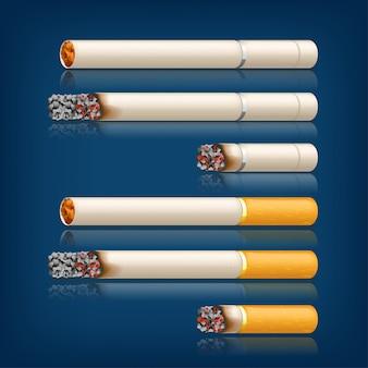 Ensemble de cigarettes à fumer