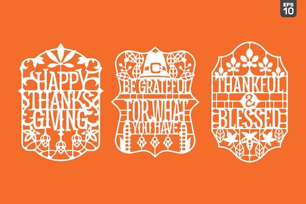 Ensemble de citation de thanksgiving