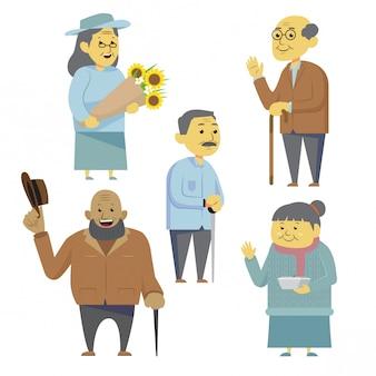 Ensemble de citoyens âgés