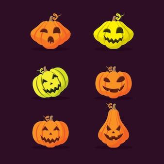 Ensemble de citrouilles d'halloween.