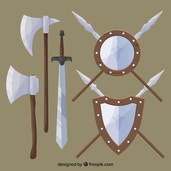 Ensemble classique d'armes médiévales