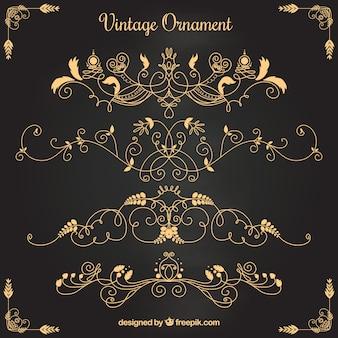 Ensemble classique d'ornements vintage