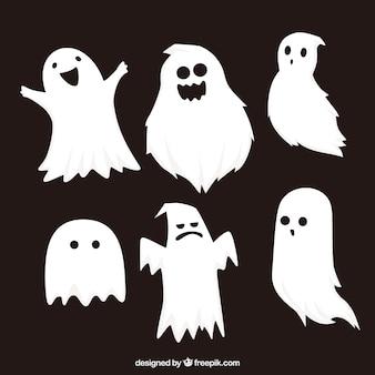 Ensemble classique de fantômes d'halloween
