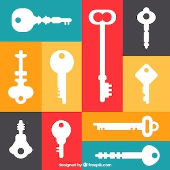 Ensemble de clés différentes