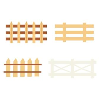 Ensemble de clôtures rustiques