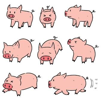 Ensemble de cochon