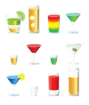 Ensemble de cocktails