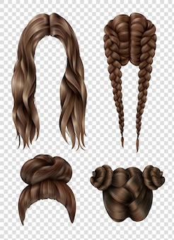 Ensemble de coiffures féminines