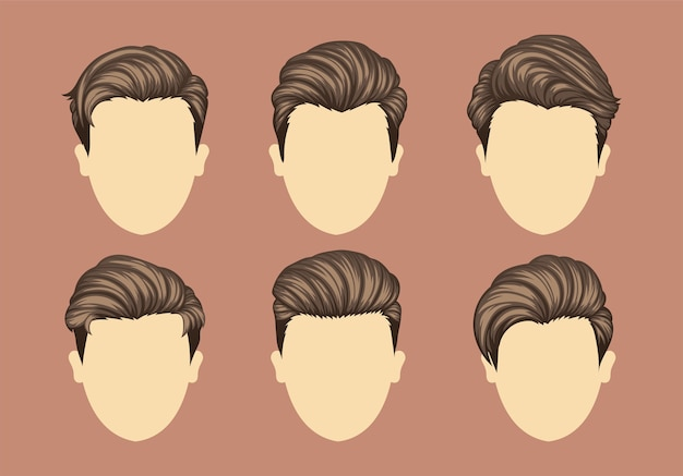 Ensemble de coiffures homme variété