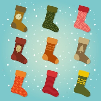 Ensemble de collecte de chaussettes d'hiver