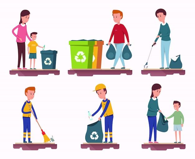 Ensemble de collecte des ordures
