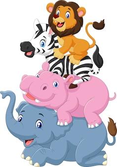 Ensemble de collection d'animaux d'afrique