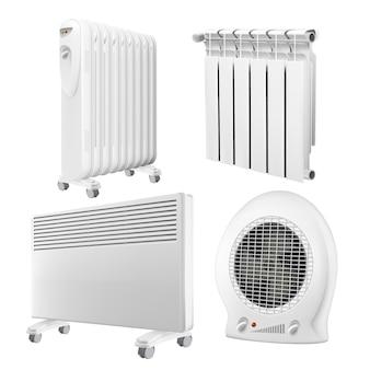 Ensemble de collection d'appareils de radiateur de chauffage