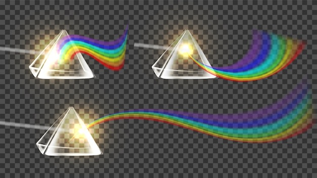 Ensemble de collection arc-en-ciel prism and spectrum
