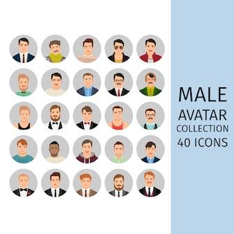 Ensemble de collection d'avatar masculin