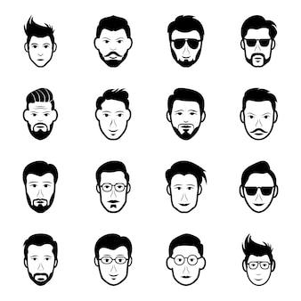 Ensemble de collection d'avatars humains