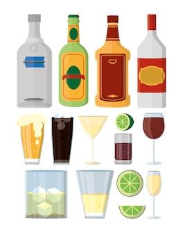Ensemble de collection de boissons alcoolisées